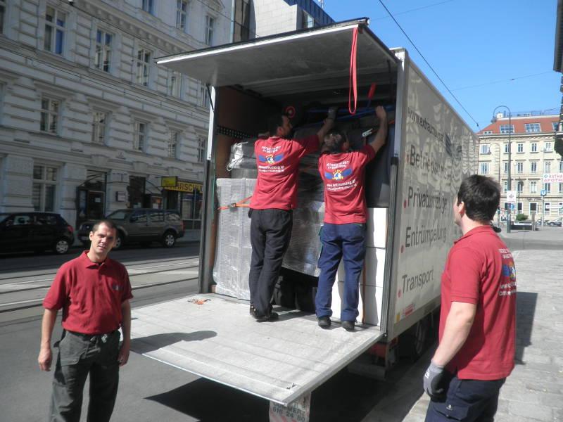 Umzugswagen richtig packen