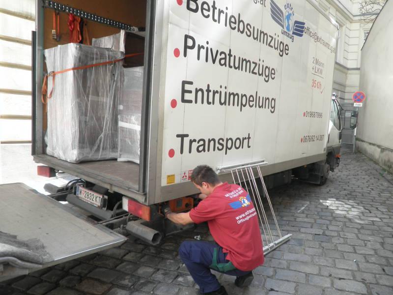 Umzugswagen in Wien